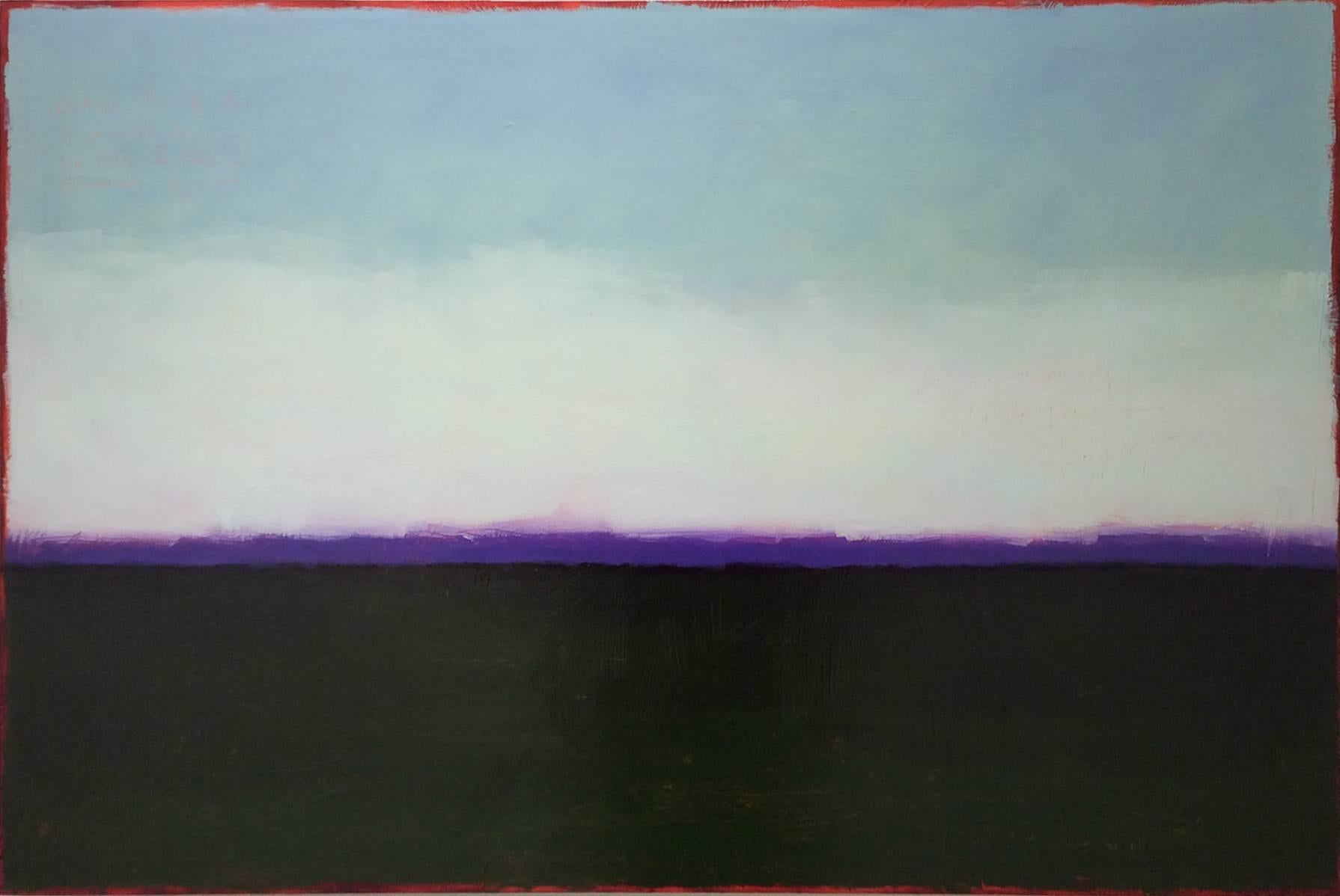 Level Best (Color Field Abstract Landscape Painting in Blue and Violet)