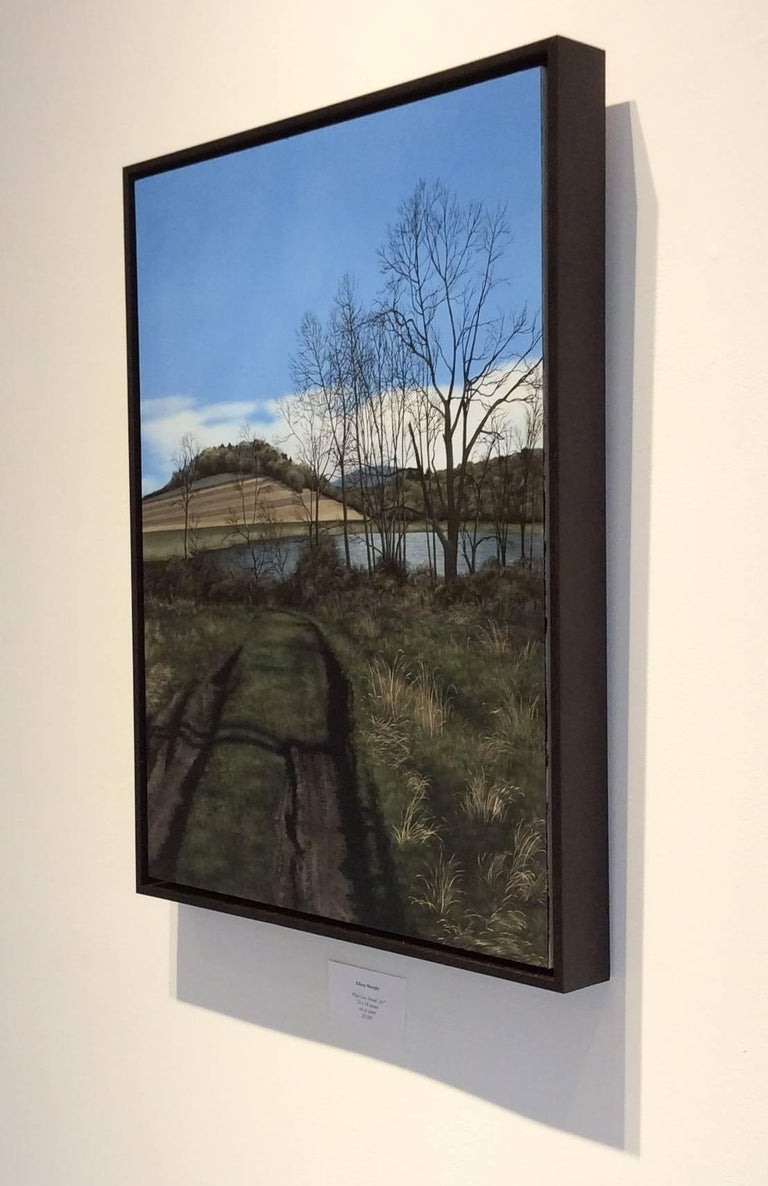 What Lies Ahead (Hyper Realist Early Spring Landscape Painting on Wood Panel) 2