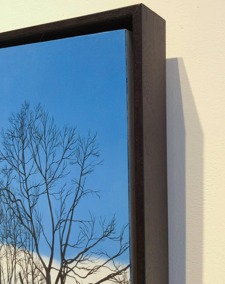 What Lies Ahead (Hyper Realist Early Spring Landscape Painting on Wood Panel) 3