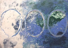 Ovals II: Mixed Media Drawing on Handmade Paper
