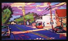 Monument at Fairland (Colorful Fauvist Style Cityscape Painting of Provincetown)