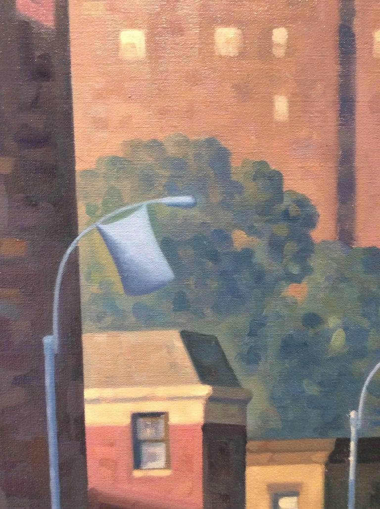 Sunrise, Lafayette (Cityscape Oil Painting of Brooklyn Skyline) 1