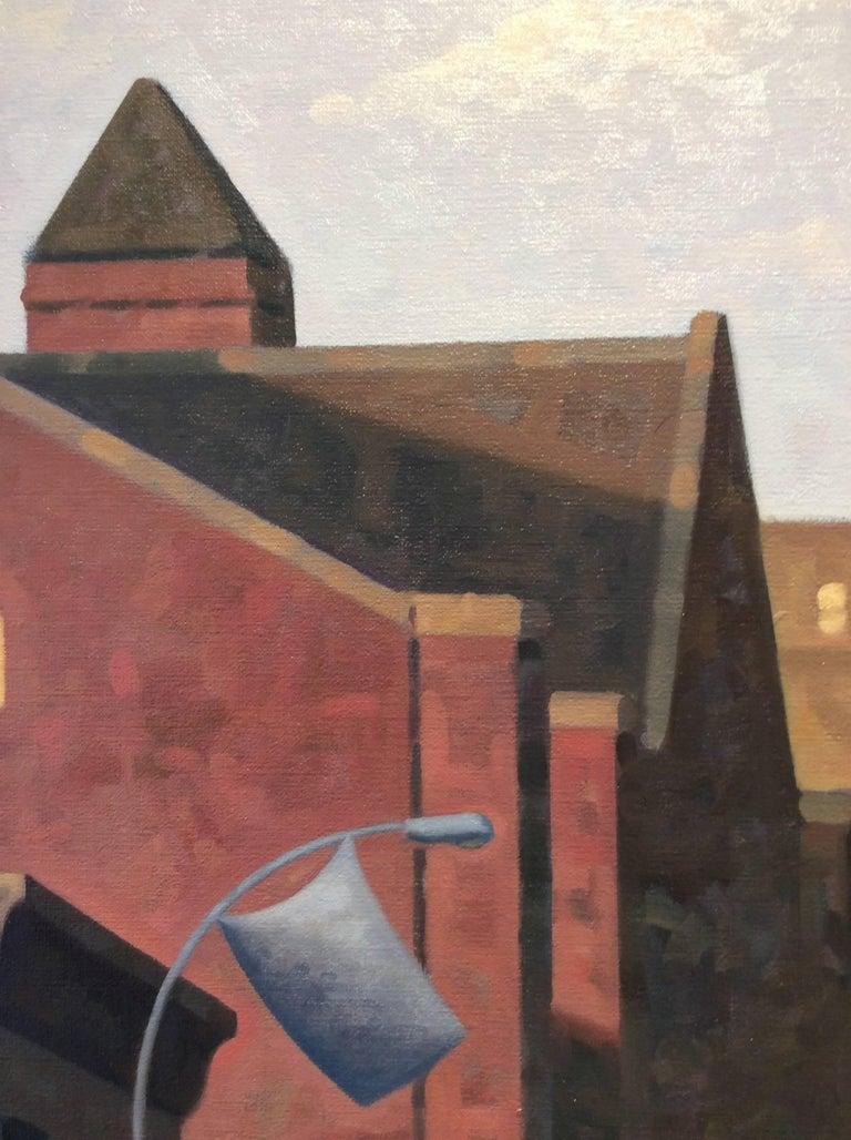 Sunrise, Lafayette (Cityscape Oil Painting of Brooklyn Skyline) 2