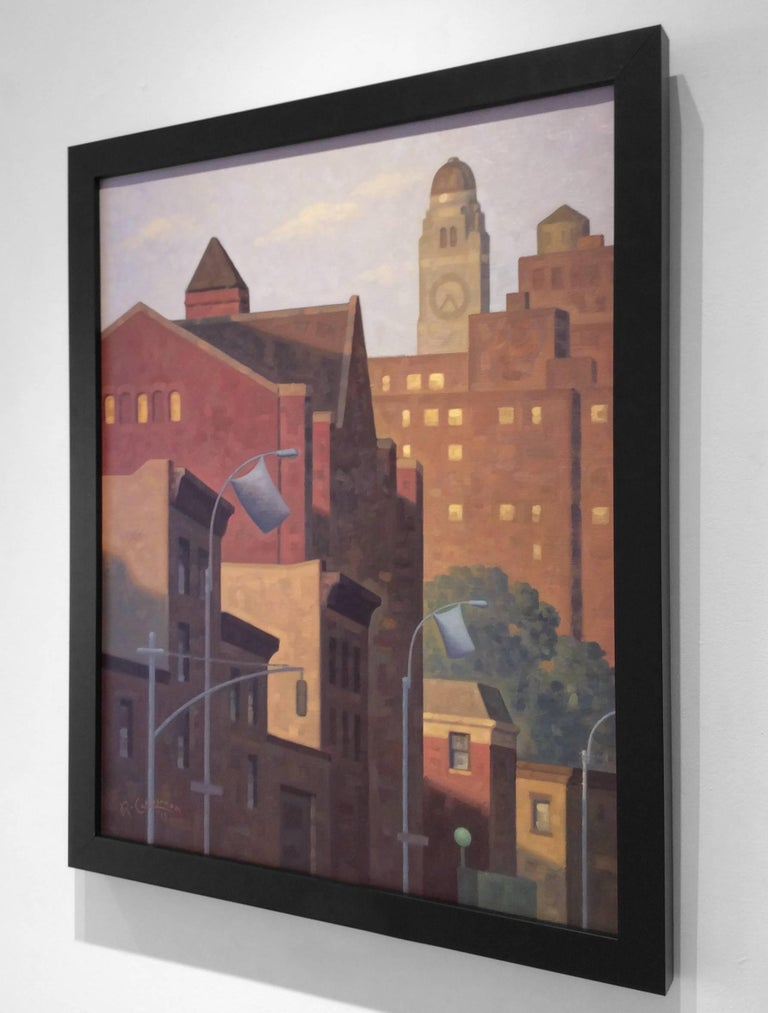 Sunrise, Lafayette (Cityscape Oil Painting of Brooklyn Skyline) 3