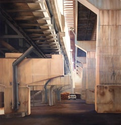 Bedford Between S. 5th & S. 6th Streets (Photorealist Industrial Oil Painting)