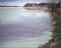 Cheviot in Winter (Country Landscape Painting of Hudson River in the Winter)