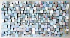 Bejeweled (Colorful, Abstract Mid Century Modern Style Wood Wall Sculpture)