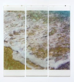 Warm Waters No. 33 (Nautical Style Photograph of Blue Ocean Waves on 3 Panels)