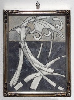 Arabesque 1 (Graphite Work on Paper in Vintage Frame)