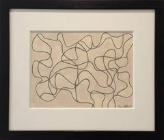 Black and White Abstract Drawing, Untitled 60