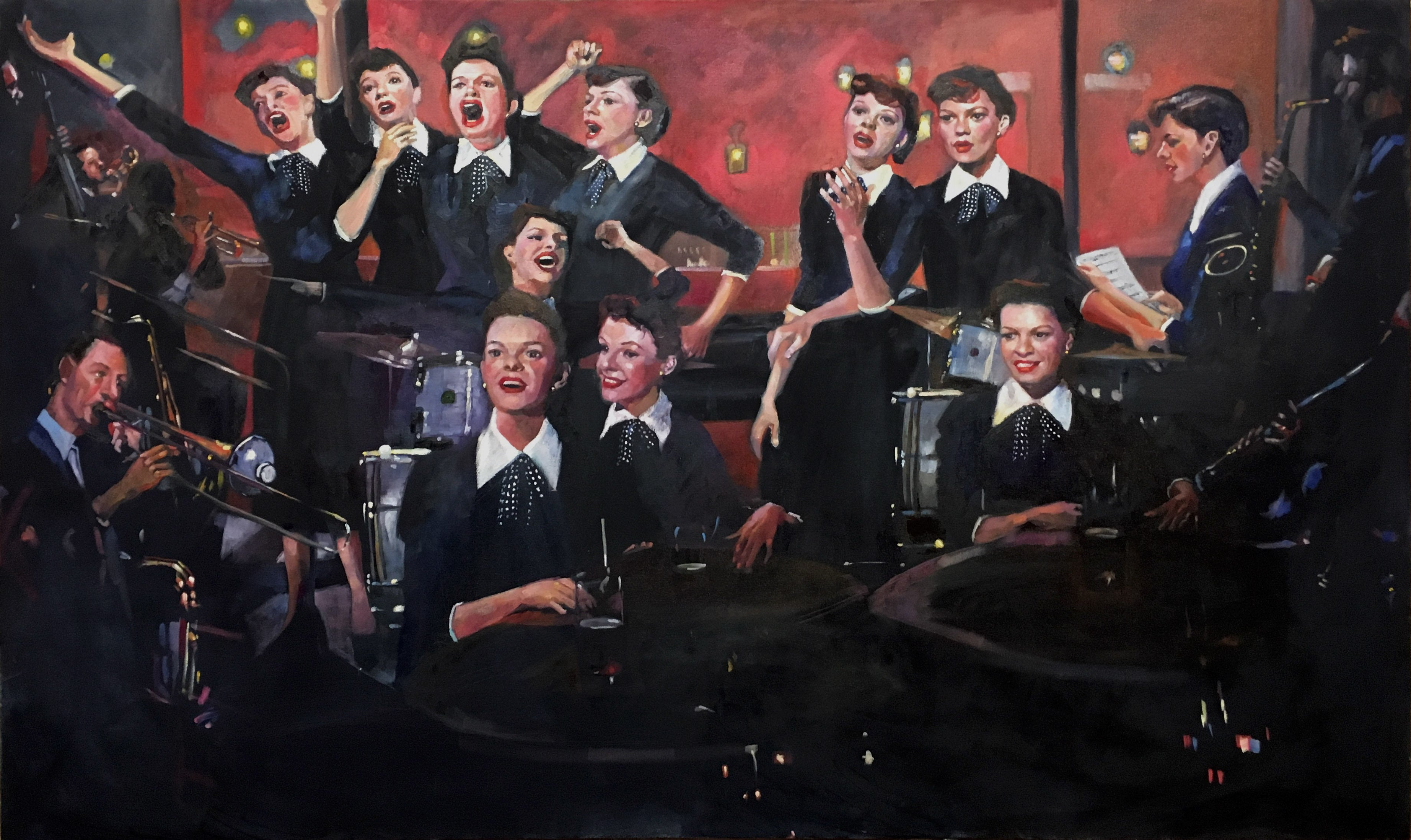 The Man That Got Away (Contemporary Oil Painting about Judy Garland)