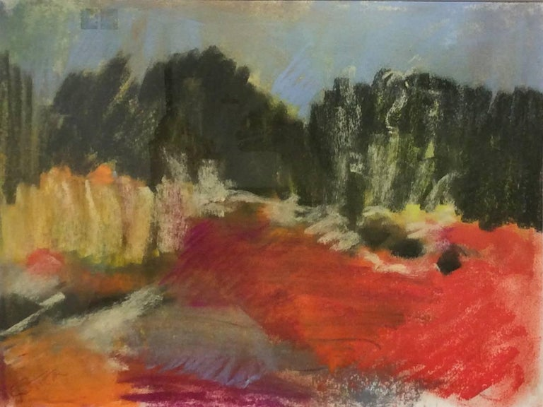 Berkshire View (Ethereal Abstracted Landscape Pastel on Paper)