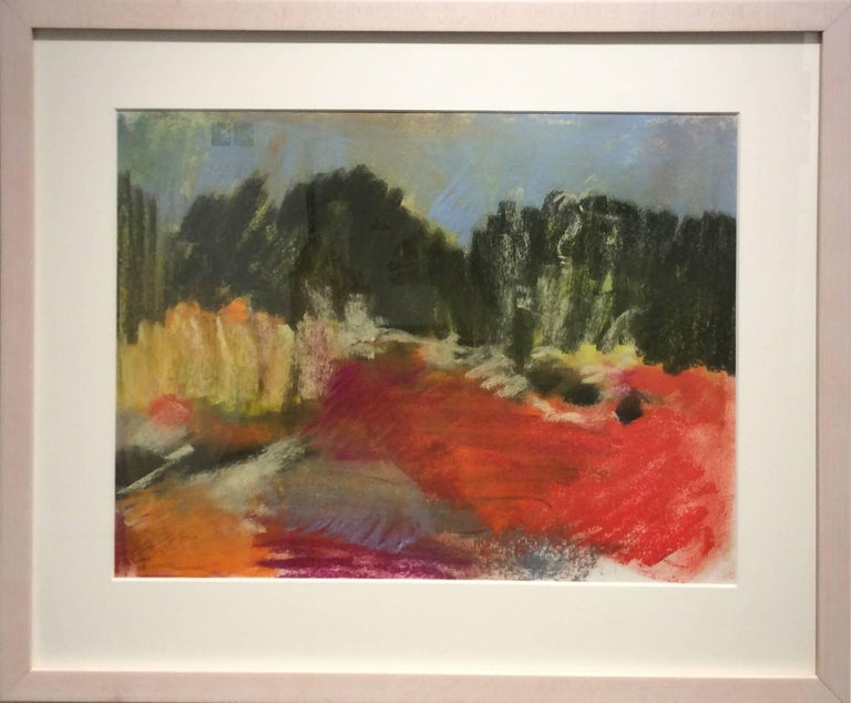 Berkshire View (Ethereal Abstracted Landscape Pastel on Paper) - Art by Nancy Rutter