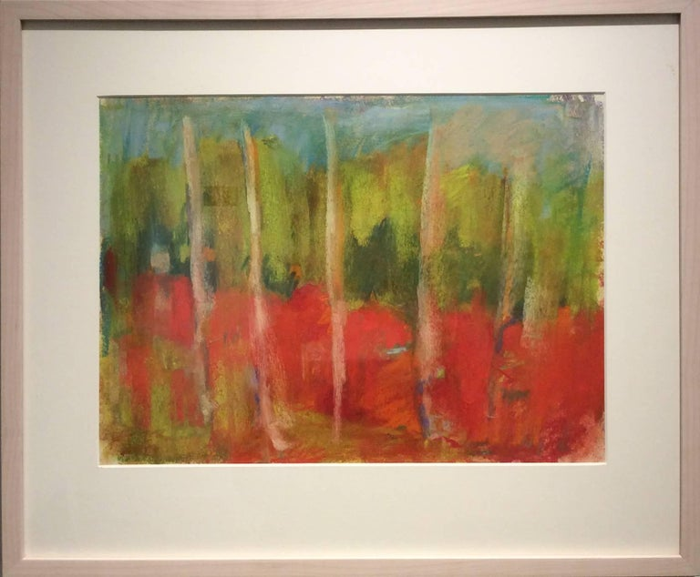 Wood Glen (Ethereal Abstracted Landscape Pastel on Paper) - Art by Nancy Rutter
