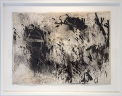 Olivebridge Drawing No. 2 (Gestural Charcoal Drawing floated in custom frame)