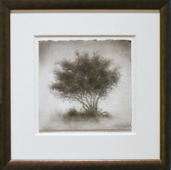 Little Scrap: Realistic Black & White Charcoal Tree Landscape Drawing, Framed
