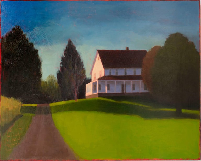 It Was A Beautiful Day (Charming Contemporary Landscape with White House)