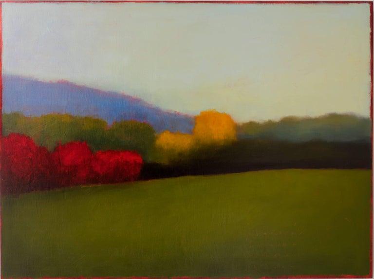 Landscape (Modern, Color Field Landscape Painting on Panel)