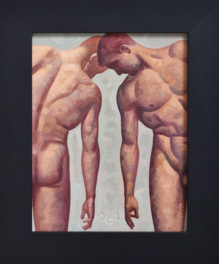 Robert Goldstrom Anatomy Study 35 Small Figurative Painting Of