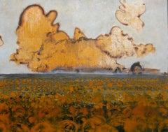 Pumpkin Field (Contemporary Hudson Valley Landscape Painting)
