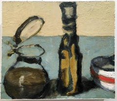 Countertop Vessels #2 (Charming Contemporary Still Life of Olive Oil Cruet)