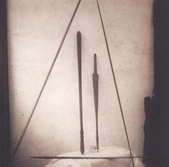 Ceremonial Canes (Sepia Toned Still Life of 5 Canes from Tonga)