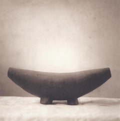Headrest (Sepia Toned Still Life of Wooden Antique from Tonga)