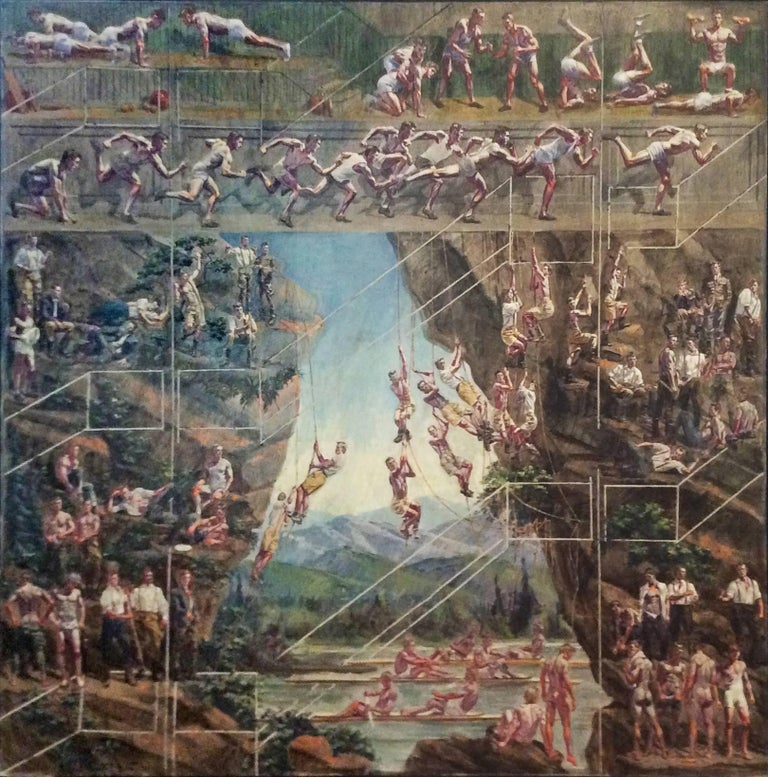 Study for Athletes II (Large Mural of Male Figures & Athletes In a Landscape)