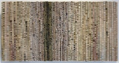 Seachelles (Abstract 3-D Wooden Wall Sculpture in Neutral Tones on Dyed Wood)