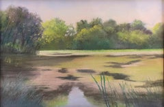 Old Pond Chatham (Impressionist Style Landscape Drawing of a Country Pond)
