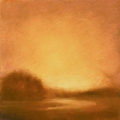 Illuminata II (Luminist & Hudson River School Style Landscape Painting, Framed)