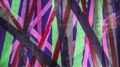 Untitled 017 (Abstract, Mid-Century Modern, Vertical Magenta & Green Stripes)