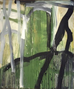 In the Beginning: Abstract Expressionist Painting in Green, White & Black