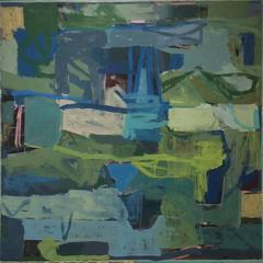 James O'Shea - Birthday Party (Contemporary Abstract Square Painting on Canvas)