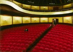 Last Showing (Interior Painting of Solitary Man Sitting in an Empty Theater)