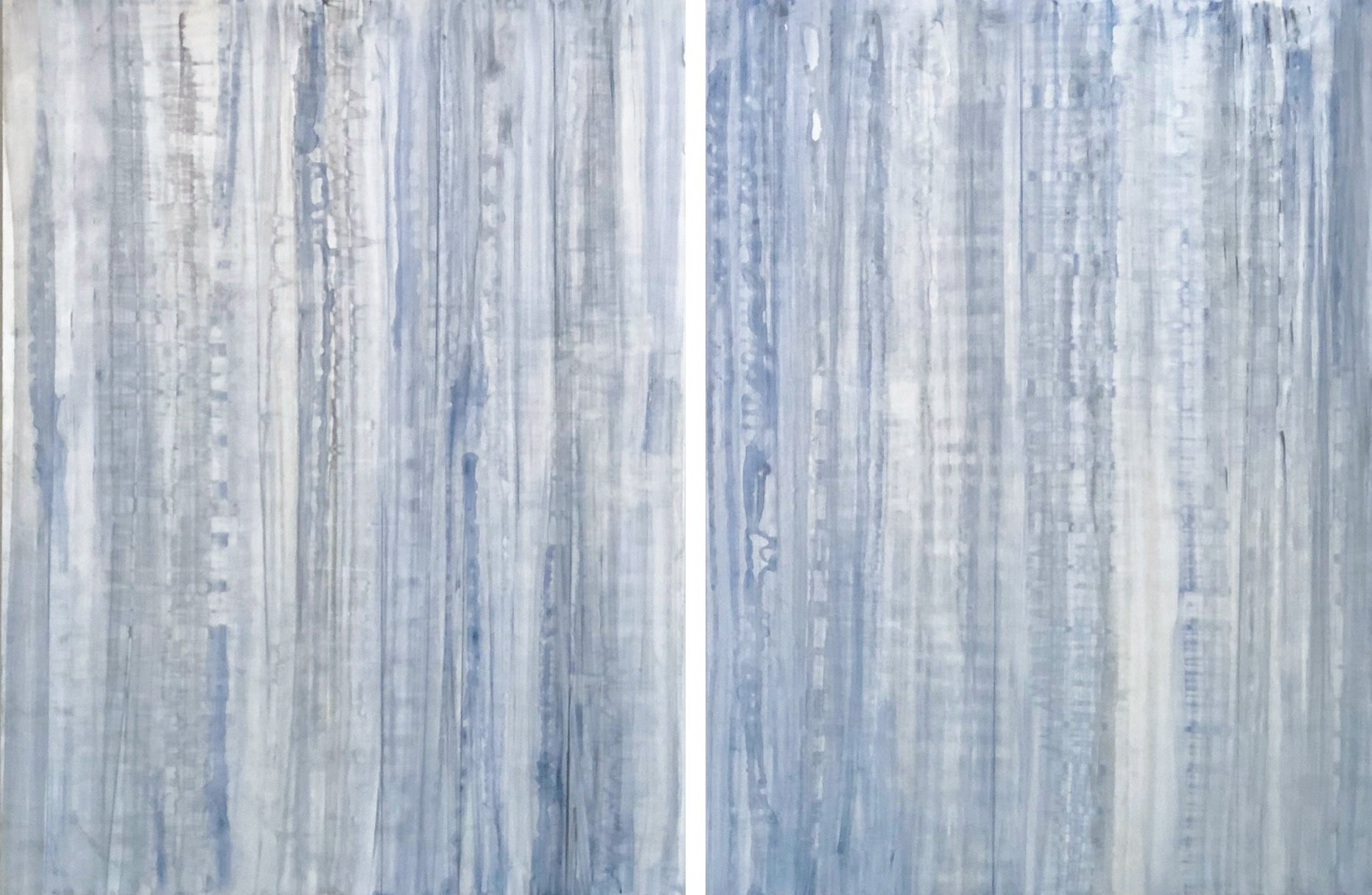 Minimalist Abstract Color Field Painting in Light Blue, White & Grey (C20-9)