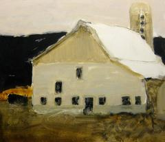 Still Good (Rustic Barn in Country Meadow, Oil on Panel)