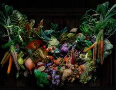 Farmers Market Festoon, Single Swag: Still Life Photograph of Vegetables & Fruit