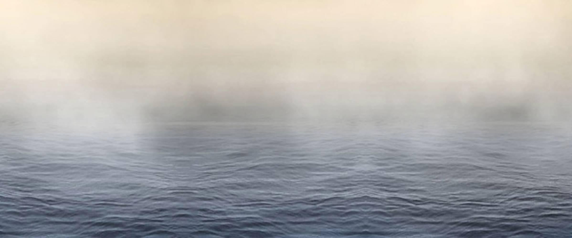 Horizon Fields I (Minimal Abstracted Ocean View with Rising Fog)