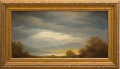 Mountain Sunset (Traditional Hudson River Landscape Oil Painting)