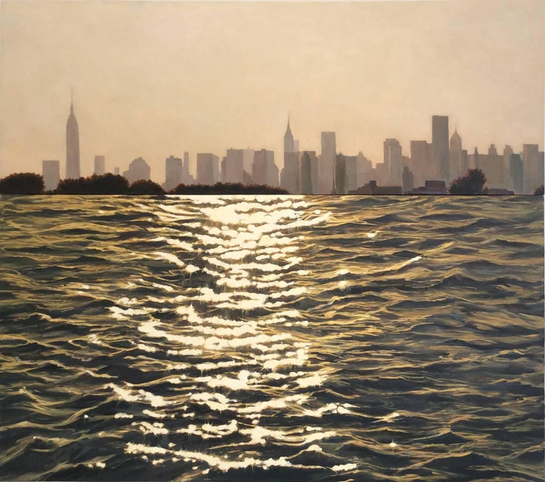 NY, NY (Manhattan Skyline in Afternoon Light w/ Shimmering Water)