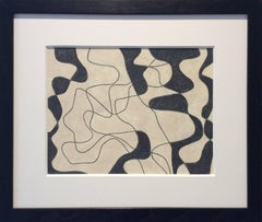 Black and White Abstract Drawing, Untitled 32