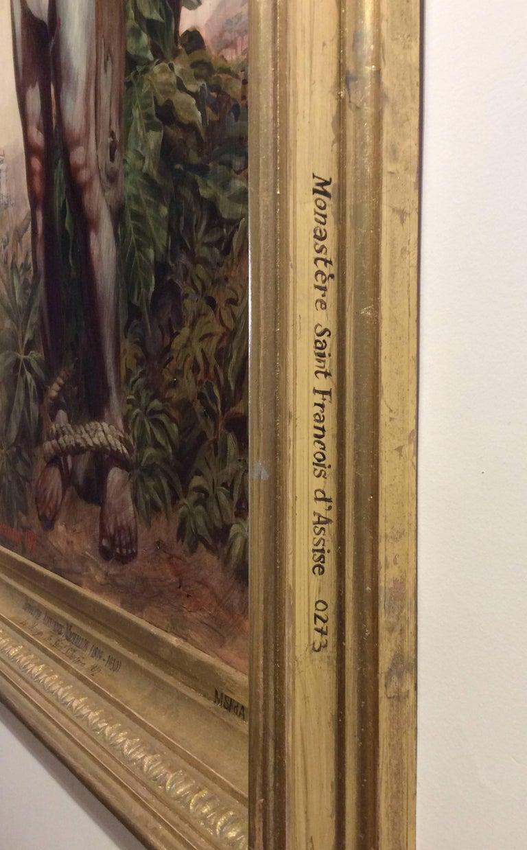 Le Martyr de Saint Sebastian (Academic Figurative Oil Painting in Gold Frame) For Sale 7