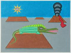 (Lizard with Volcano)