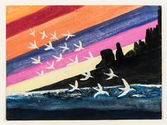 Birds #2, with Rainbow Sky