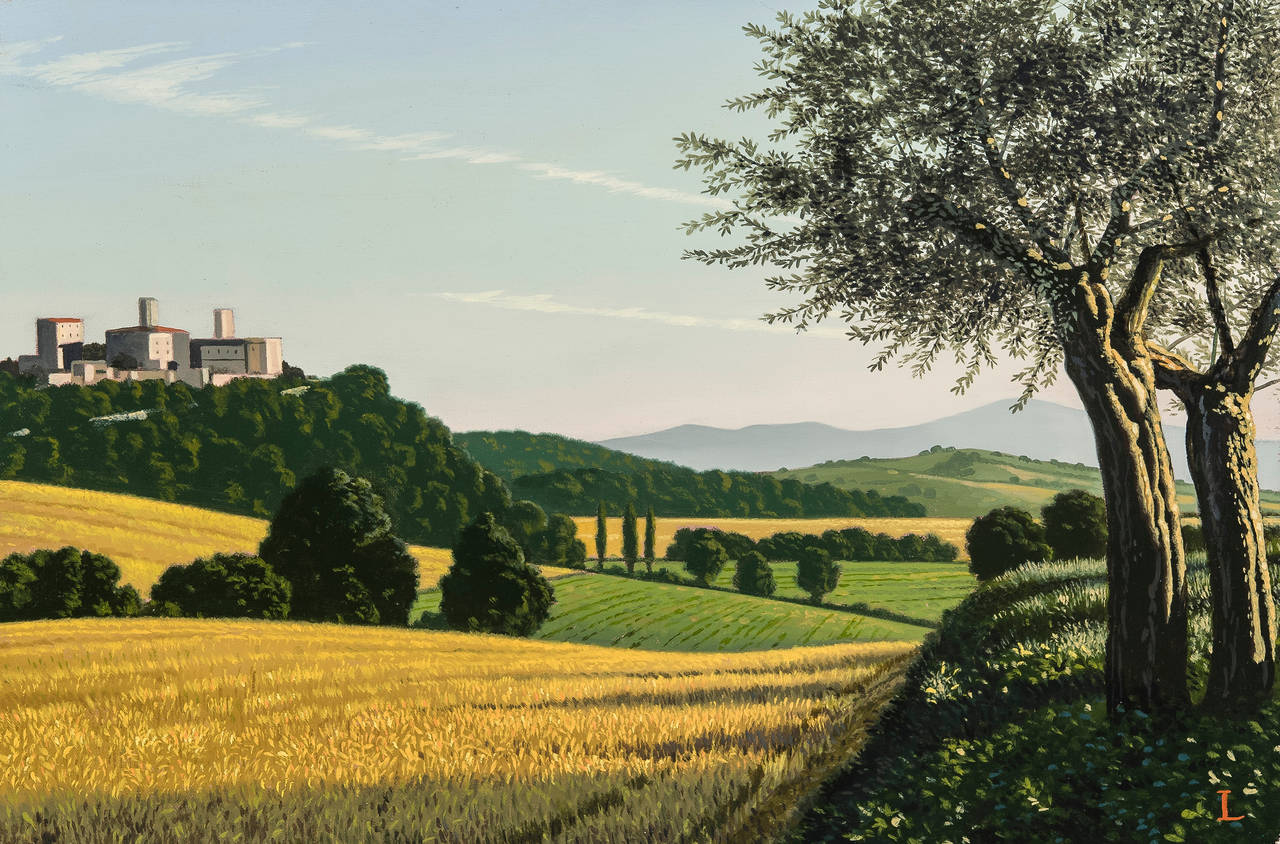 David Ligare Italian Landscape With Olive Trees For Sale At 1stdibs