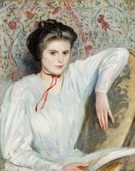 Portrait of a Young Woman in a White Blouse