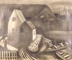 "Staten Island [study for ""Fishing Village""]"