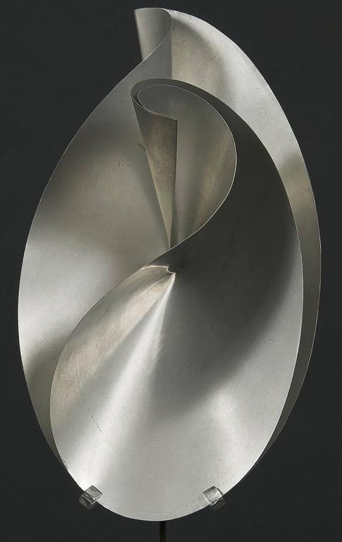 Twisted and Creased Ellipses in Two Stages - Abstract Sculpture by John Rutherford Boyd