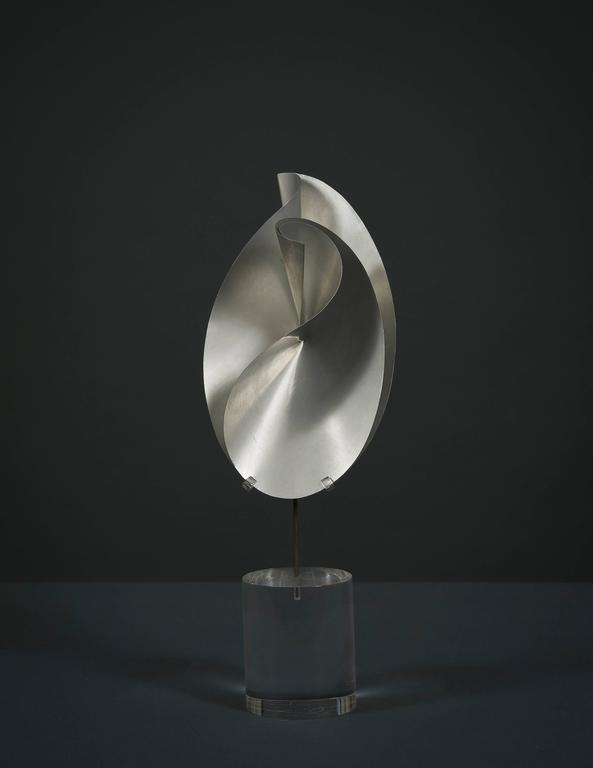 John Rutherford Boyd Abstract Sculpture - Twisted and Creased Ellipses in Two Stages